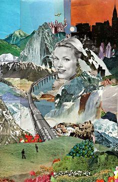 Collage art journaling