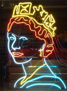creative neon rob court — 7 foot high Neon Queen made by Rob Court in 2012 Custom Neon, Neon Colors, Colours, Neon Sign Art, Light Wall Art, Museum Poster, Neon Words, Arcade Fire, Neon Nights
