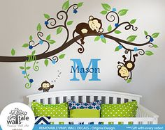 monkey wall decal on Etsy, a global handmade and vintage marketplace.