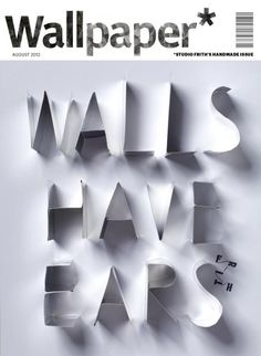 Creative use of #typography on Wallpaper magazine's cover.