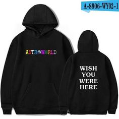 6cb3b24d0c46 Travis Scott Astroworld WISH YOU WERE HERE hoodies fashion letter prin –  dresslliy Men Logo,