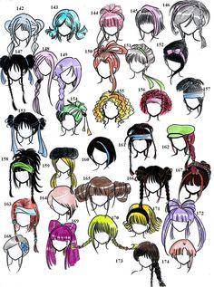 hairstyles - 2nd edition- by NeonGenesisEVARei on DeviantArt