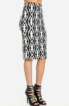 Tribal Pencil Skirt | DAILYLOOK