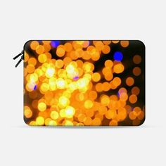"""Lights in the night Macbook Air 11"""" sleeve by littlesilversparks 