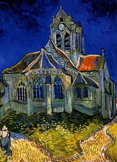 Van Gogh - L'Eglise d'Auvers-sur-Oise (The Church of Auvers-on-Oise), 1890