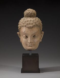 A terracotta head of Buddha Ancient region of Gandhara, 3rd/4th century