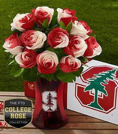 Stanford flowers - fun for a tailgating centerpiece!
