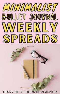 Be inspired to create a minimalist bullet journal with these weekly spread ideas! #minimalist #weeklyspread Bullet Journal How To Start A, Bullet Journal Spread, Weekly Planner Template, Printable Planner, Journal Pages, Journal Ideas, Minimalist Bullet Journal Layout, Bujo Weekly Spread, Bullet Journal Printables