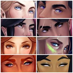 """maggiepalmiter: """"The Eyes Meme · Kind of in order from newest to oldest? Sort of. But this was fun to put together. I really like painting eyes even though I definitely want more practice with them. But hey, you get some super up close shots of..."""