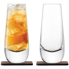 LSA Whisky Islay Mixer Glass 325ml Walnut Coaster Set of 2 ($60) ❤ liked on Polyvore featuring home, kitchen & dining and lsa international