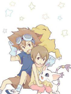 Tai & Kari - Digimon Adventure