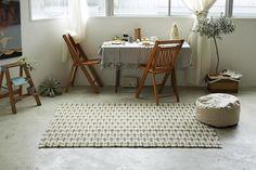 [90cm×130cm]037-Rinton_ラグマット(グリーン)(ラグ・マット)【HOME'S Style Market】|おしゃれな家具・インテリアの通販(商品コード:sm-037-05077-GN)