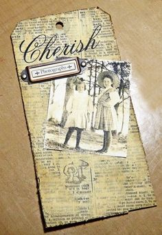 dictionary page distress tag tim holtz