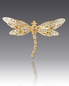 Jay Strongwater Bejeweled Dragonfly Pin
