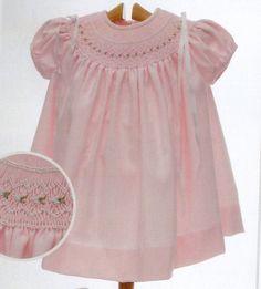 pretty pretty pink smocked dress  <3