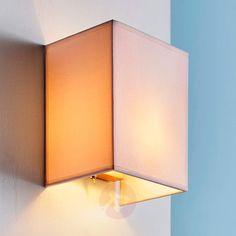 Annalisa kvadratisk stofvæglampe i hvid-9620873-30