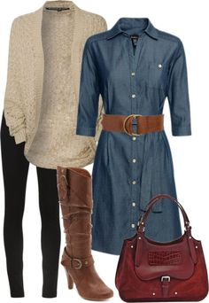 #winter #outfits / dress + shrugs