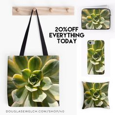 20% Off Everything Today!  Striking Succulents Decorate These Totes iPhone Cases Pillow and Much More!  Echeveria plants up close in this photo from a local cactus and succulent show. This show is always a great place to capture some amazing photos of all sorts of succulents.  Available exclusively from http://ift.tt/2i1uX76 http://ift.tt/2pa1av5 (Direct Link)  iPhone Case Features  Clip-on case with a unique inner silicone absorbing sleeve  Allows full access to all device ports  Extremely…