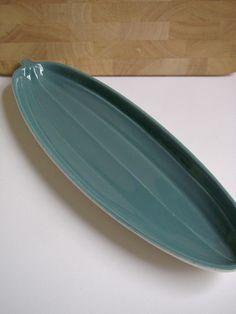 Poole Pottery leaf serving dish