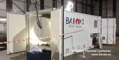 Thermal Hyperbaric / Diving Container -  Military standard - thermal , noise and fire insulated ISO container.