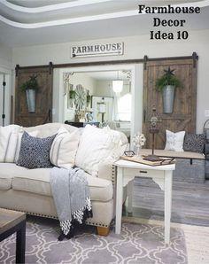 Rustic farmhouse living room decorating idea - Clutter-free Farmhouse Decor Ideas #farmhousedecorating #rusticfarmhouse #diydecor #homedecorideas #diyhomedecor #farmhousestyle #farmhousedecorideas #decoratingideas #kitchenideas #livingroomideas #bedroomideas #bathroomideas #laundryroomideas