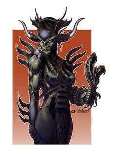 Eric Lofgren Presents: Alien Warrior - Misfit Studios | Eric Lofgren | Publisher Resources | DriveThruRPG.com Alien Queen, White Wolf, Stock Art, Art File, All Art, Art Images, Studios, Lion Sculpture