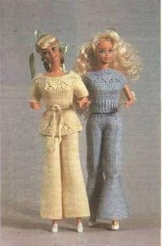 How to tie blouse and pants for Barbie dolls