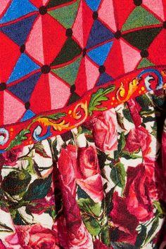 Dolce & Gabbana - Ruffled Printed Cotton-blend Dress - Pastel pink