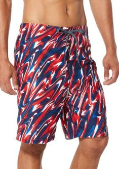 Swim Trunks Summer Beach Shorts Pockets Boardshorts for Men Youth Boys Tied and Dyed Tie Dye Graffiti
