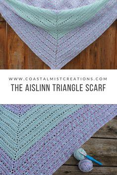 aislinn triangle scarf FREE pattern from coastal mist creations!