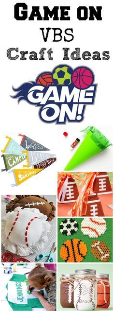 Gearing up for Lifeway's Game On VBS extravaganza 2018? Get your head in the game with these great alternative craft ideas!