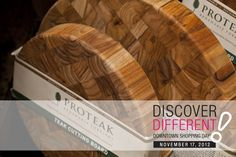 Durable and sustainable teak cutting boards found at Jill's Table