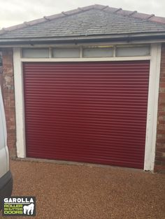 Did you know you can see all our electric Roller Shutter Garage Door prices online? Yep, we never surprise you with any hidden fees at Garolla. Click the link to see our same Roller Garage Doors prices UK wide. Garage Doors Uk, Red Garage Door, Single Garage Door, Garage Doors Prices, Garage Door Makeover, Garage Walls, Roller Doors, Roller Shutters, Red Interior Design