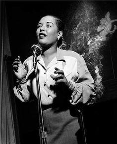 Billie Holiday by Herman Leonard (1949)