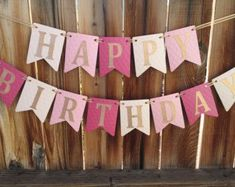 Happy Birthday Banner, Girl Ombre Pink Gold First Happy Birthday Banner, Girl Ombre Pink Gold First Birthday Pink and Gold birthday banner Happy Birthday by LadybugPartyFun - First Birthday Banners, Baby First Birthday, First Birthday Parties, First Birthdays, Diy Happy Birthday Banner, Gold Birthday, Birthday Diy, Birthday Wishes, Birthday Cake