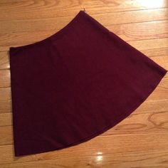 Kenneth Cole - Maroon A Line - Wool Shell - EUC Kenneth Cole. Item is in excellent used condition. 60% Wool shell. Black polyester lining. Purple. Kenneth Cole Skirts A-Line or Full