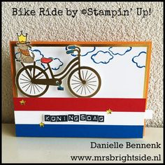 Bike Ride by Stampin' Up! Free tutorial Pull tab slider card in English and Nederlands by Danielle Bennenk (www.mrsbrightside.nl).