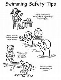 pool safety coloring page Google Search Swimming Pool Safety