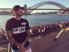Looking at the Sydney Opera House in front of the Sydney Harbour Bridge wearing my @globalproposalclothing tee. #checkmysunnies #imnotlying #sydney #sydneyharbourbridge #circularquay #sydneyoperahouse #australia #straya #rayban #tattoo #tattoos #tattooedmen #touristinmyowncountry #livingthedream by thejerseycollectordtd http://ift.tt/1NRMbNv
