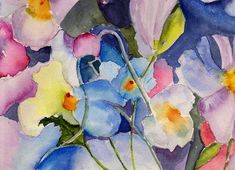 Watercolor Painting - Alices Garden by Anne Duke