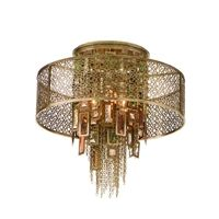 The Riviera 2 Light Semi-Flush Ceiling Lamp by Corbett Lighting is a ceiling fixture in a Riviera Bronze finish. This Riviera fixture will give an instant wow factor to any decor or room such as a bedroom, bathroom or hallway. It is a statement piece that will dazzle your friends and family.