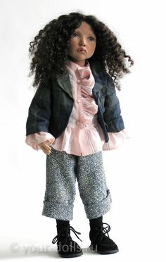 Swan. Collectible doll Zwergnase