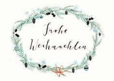Postkarte FROHE WEIHNACHTEN von bär von pappe auf DaWanda.com