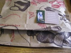 Upcycled shipping envelopes from the Natural Kids blog - great idea! Wish I could sew!