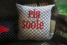 "razorback throw pillows  I need a ""razorback room"" in my home.. definitely."