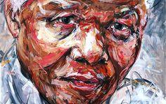 Ich mag ja Künstler, die es mit wilden Pinselstrichen schaffen, etwas Großes zu erschaffen. So wie es auch Hom Nguyen tut. Wenn man ganz nah vor seinen Bildern steht, erkennt man eigentlich nur viele chaotisch aneinandergereihte Farbflächen. Aus der Ferne