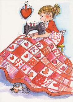 Quilt of Hearts by floquilter, via Flickr