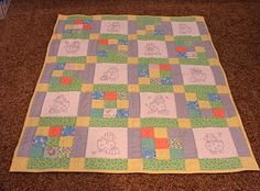 I love the Ba-Bah's on this quilt!