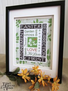 Easter subway art- printable, many different colors to choose from.