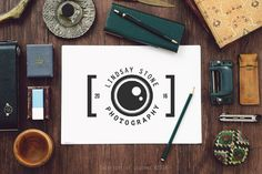 Camera Logo, Photography Logo, Instant Download Logo, DIY Logo Design, Camera…